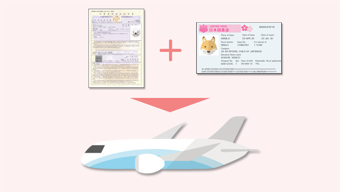 認定証明書と査証(VISA)が揃い次第入国できる