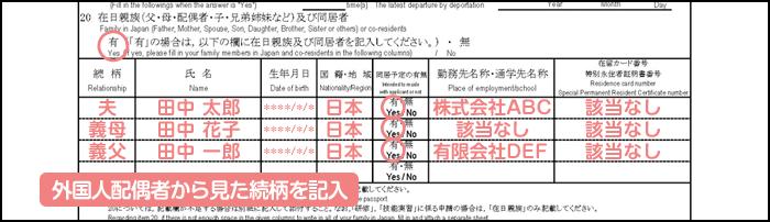 配偶者ビザ申請の在留資格認定証明書交付申請書_1枚目の20