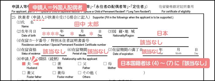 配偶者ビザ申請の在留資格認定証明書交付申請書_3枚目の25の1