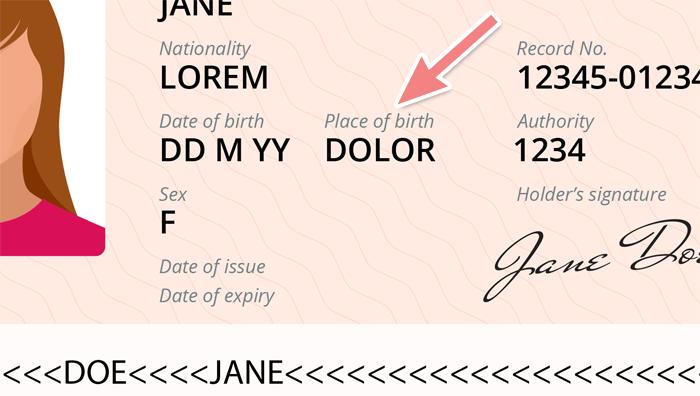 パスポートの出生地表記