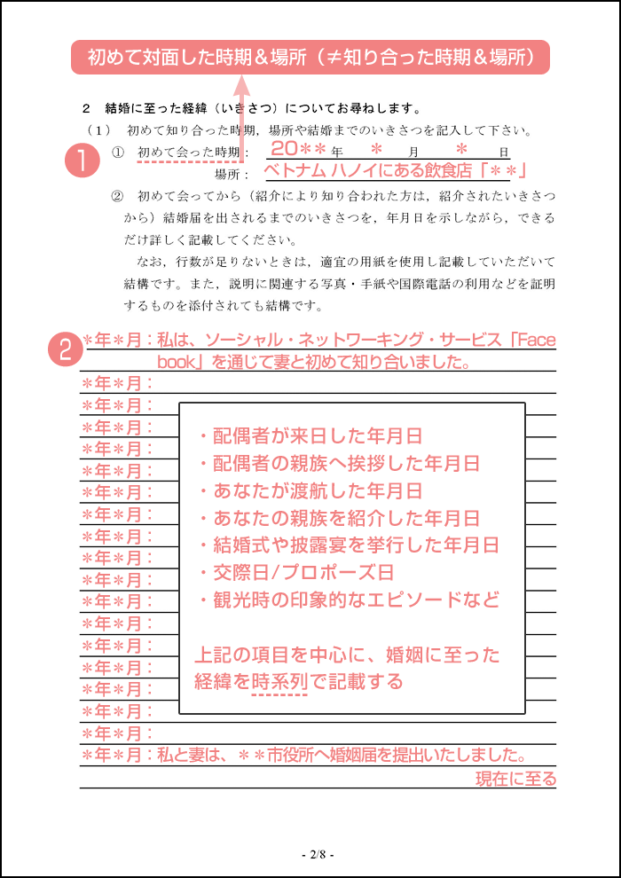 配偶者ビザ申請の質問書_2枚目