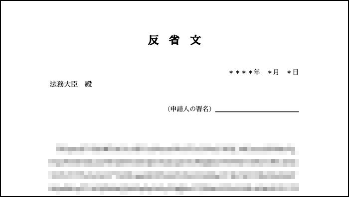 配偶者ビザ申請における反省文のサンプル