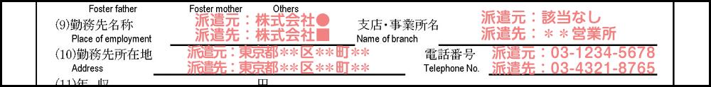 配偶者ビザ申請の在留資格変更許可申請書_3枚目の21の補足