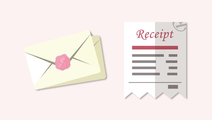 配偶者ビザ申請と手紙・指輪等の領収書