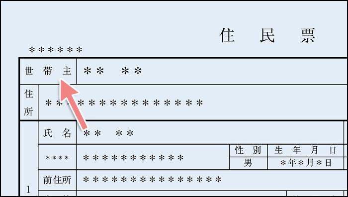 住民票の世帯主欄