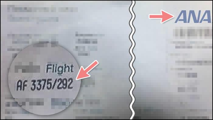 偽造された航空券
