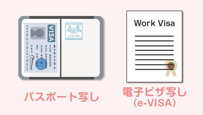 パスポートと電子ビザ