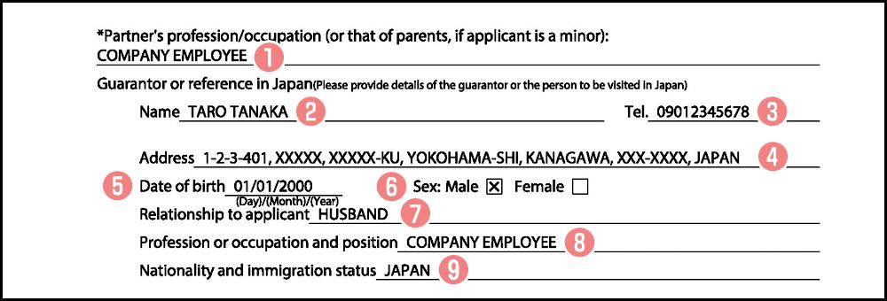 日本人配偶者の個人情報