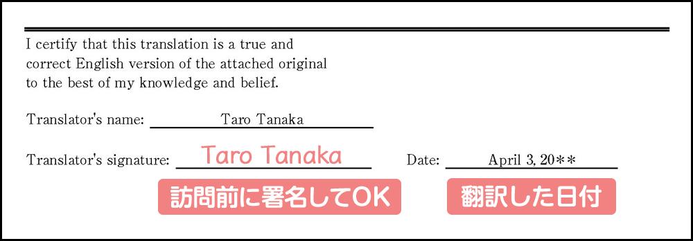 婚姻要件具備証明書の英訳の見本・テンプレート_その5