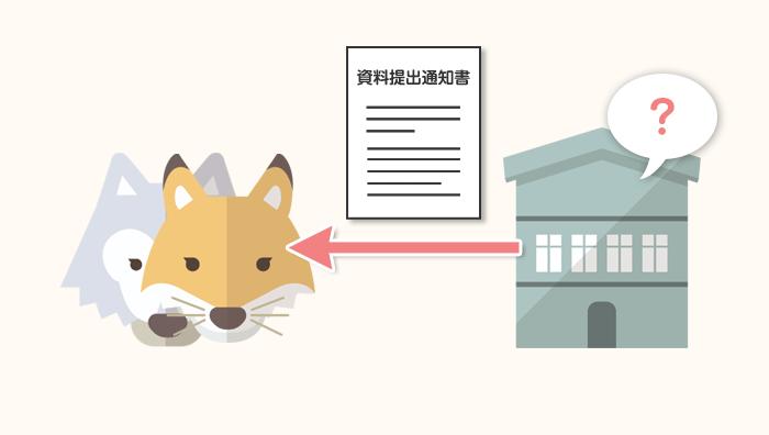 資料提出通知書(追加書類)の送付